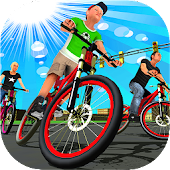 BMX City Bicycle Rider Race
