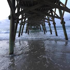 Pier by Brittany Davis - Uncategorized All Uncategorized ( sand, waves, pier, ocean, beach,  )