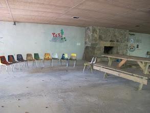 Photo: Underneath Tsani Dining Hall