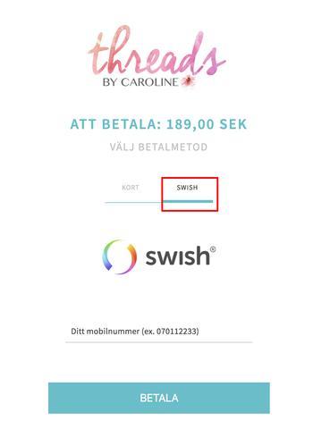 Betala med swish forex