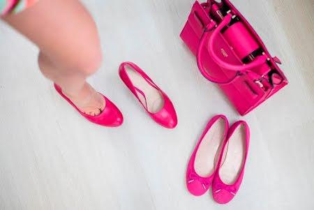 Perfecte styling met matchende schoenen en tassen