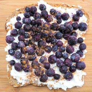 Wild Blueberry and Cream Toast