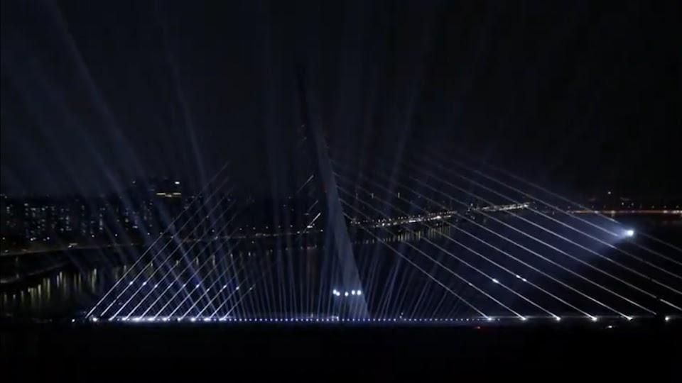 world cup bridge lighting