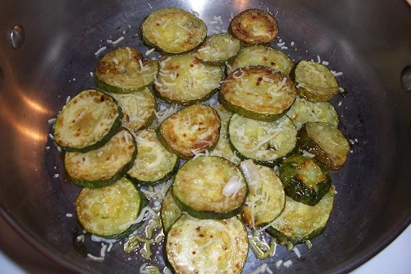 Fry zucchini out in oil used for your peppers, etc. then add to your...