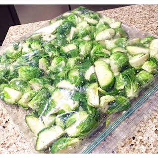 Best Brussel Sprouts Ever! Marinated Overnight!.