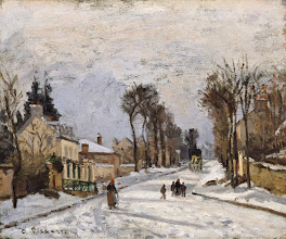 "Photo: Camille Pissarro, ""Strada Versailles a Louveciennes - neve"" (1869)"