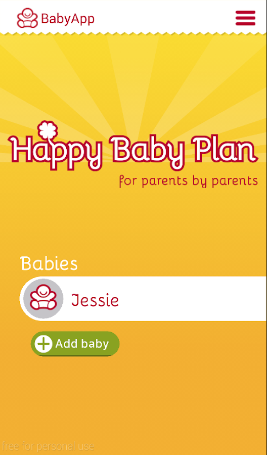 Happy Baby Plan- screenshot