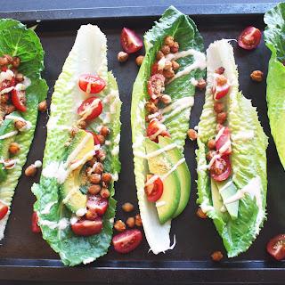 Chickpea Caesar Lettuce Wraps (Vegan, GF)