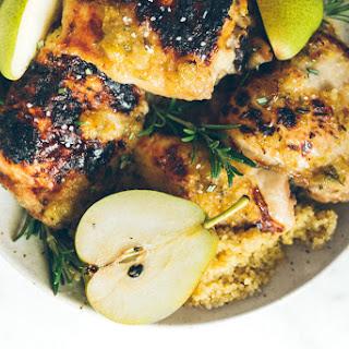 Honey Pear Glazed Chicken Thighs with Quinoa Recipe