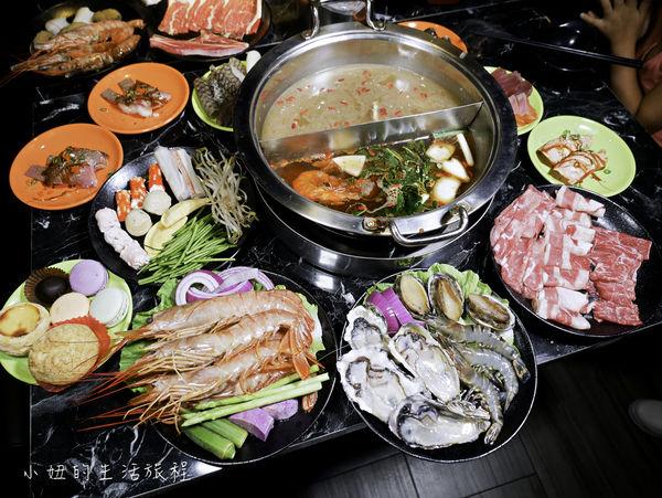 嗨蝦蝦百匯鍋物,台北火鍋吃到飽,天使紅蝦,烤生蠔,和牛握壽司,生魚片,多款啤酒飲料吃到飽
