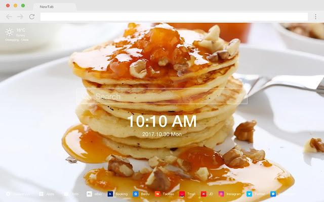 薄煎饼 热门壁纸 高清美食 新标签页 主题