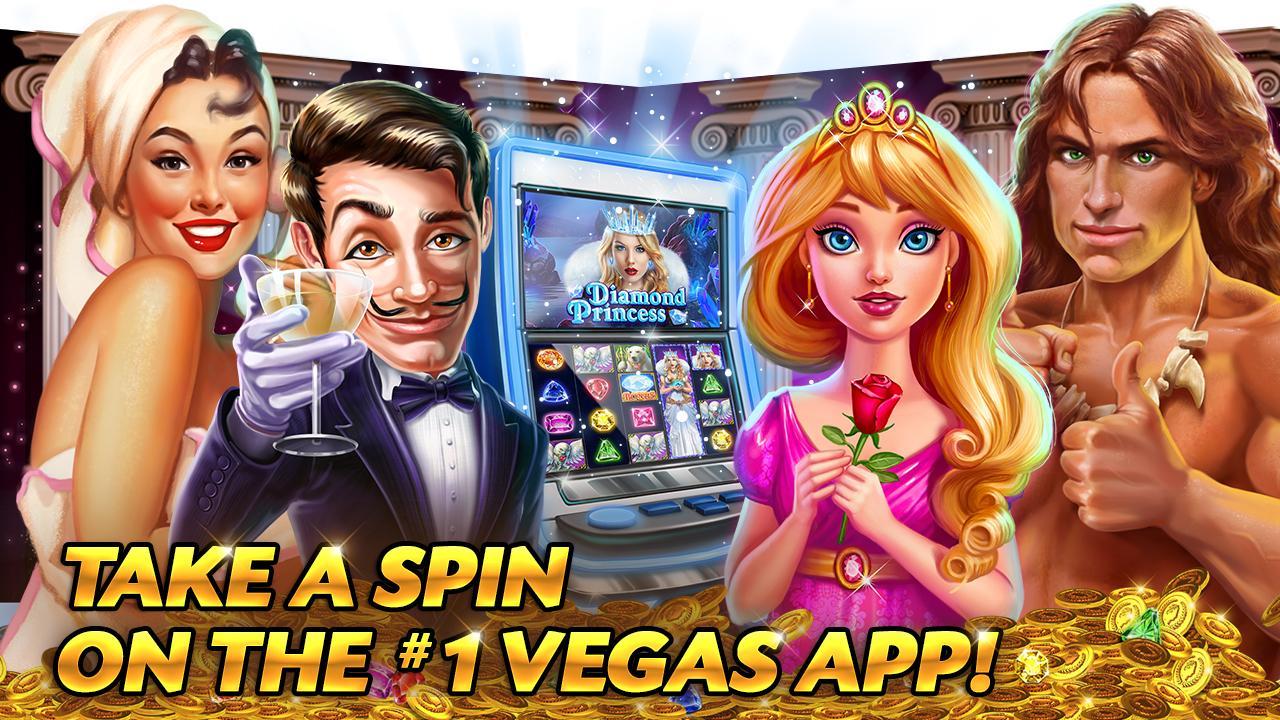 Screenshots of Caesars Slots Spin Casino Game for iPhone