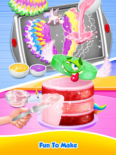 Unicorn Food - Sweet Rainbow Cake Desserts Bakery 2.7 screenshots 14