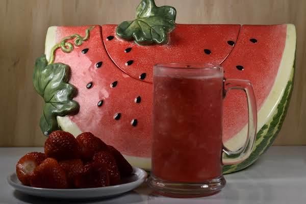 Tarbooj Sharbat- Watermelon, Strawberry Juice