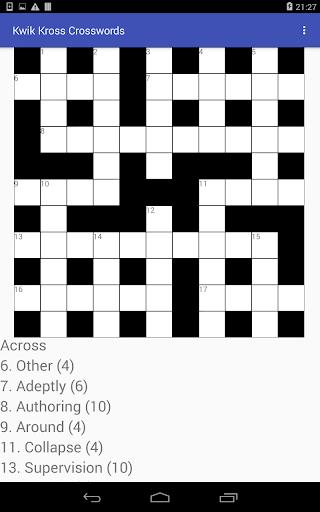 Kwik Kross Crosswords 1.0 screenshots 7