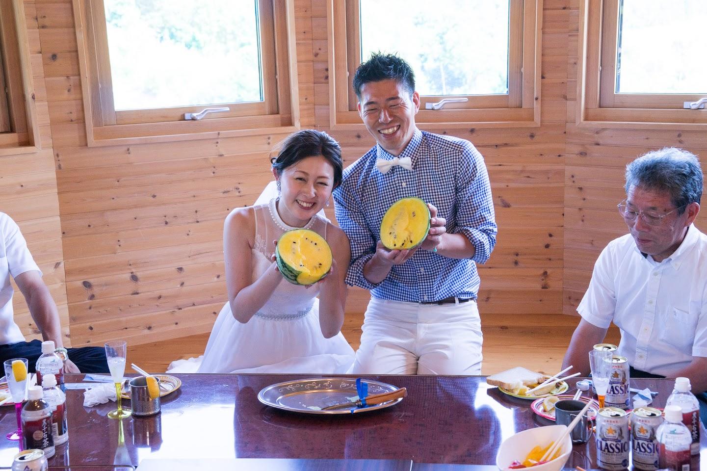 黄色いひまわりスイカも祝福