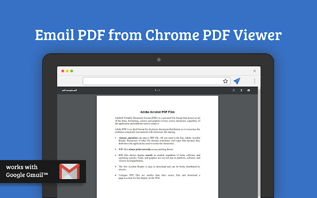 Email pdf for chrome pdf viewer chrome web store enhances google chrome pdf viewer by adding ability to email pdfs using google gmail ccuart Choice Image