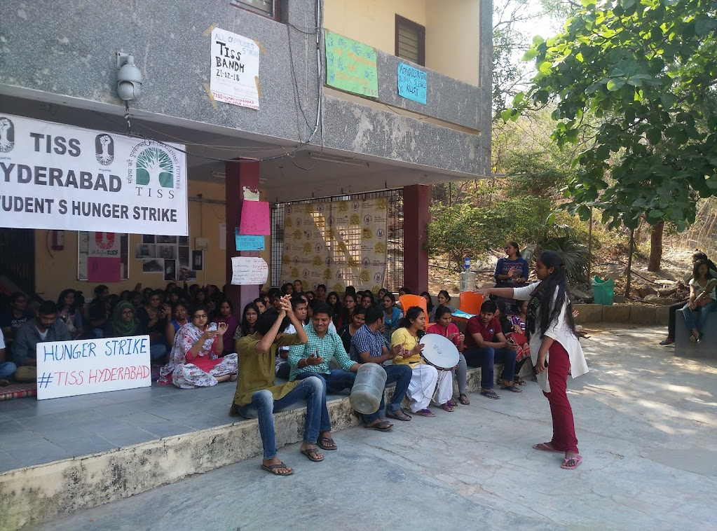 The hunger strike. Source: TISS students