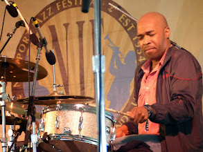 Photo: Eric Harland with Dave Holland and Prism