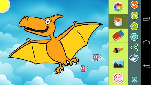 恐龙 图片上色游戏