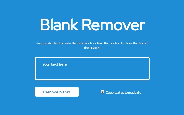 Blank Remover