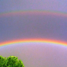 Double Rainbow in my front yard  by Kathlene Moore - Instagram & Mobile iPhone (  )