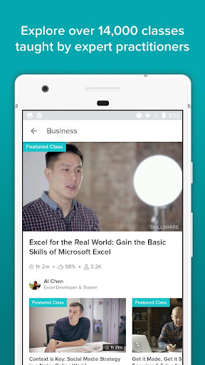 Skillshare: clases en línea screenshot