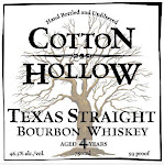 Cotton Hollow Texas Straight Bourbon