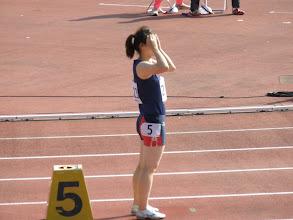 Photo: ふみさん。400m。 ぶちかましてやってください!