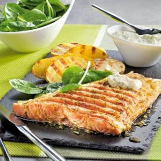 Salmon with Cream Sauce.