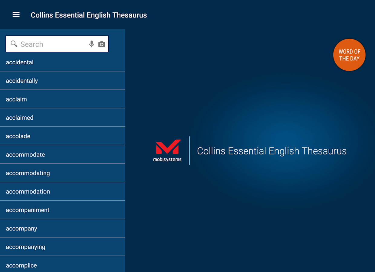 Collins Essential Thesaurus- screenshot