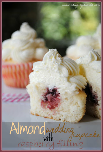 White Almond Wedding Cake.Almond Wedding Cake Cupcakes With Raspberry Filling