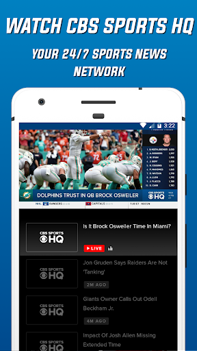 Download CBS Sports App - Scores, News, Stats & Watch Live MOD APK 4