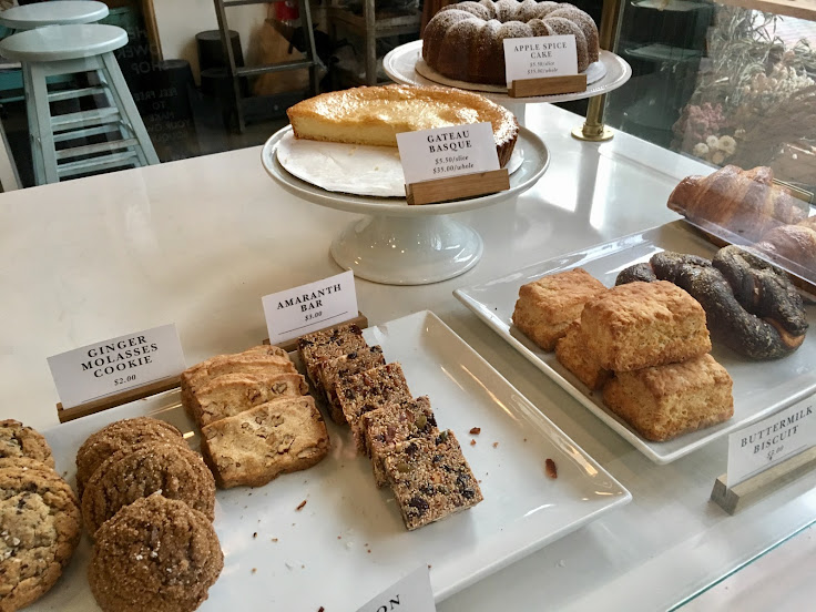 Baked goods at The London Plane.