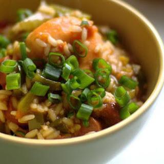 Sausage and Shrimp Jambalaya Recipe with Brown Rice