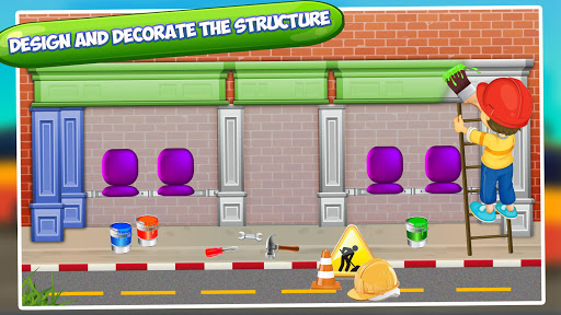Bus Station Builder: Road Construction Game android2mod screenshots 15