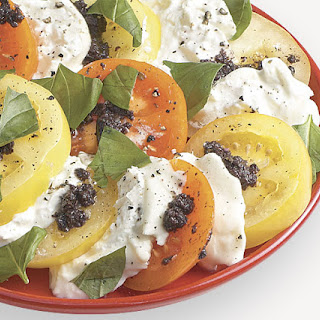 Tomatoes and Burrata with Tapenade