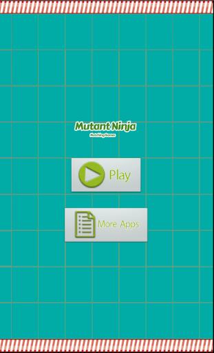Mutant Ninja Matching Games