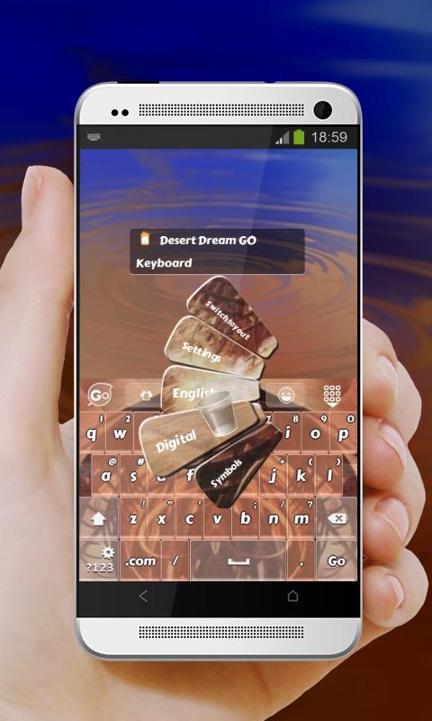 Desert Dream GO Keyboard - screenshot