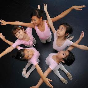 Little Ballerinas by Rouslan Podroutchniak - Babies & Children Children Candids