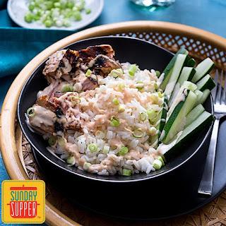 Tuna Rice Bowl with Yum Yum Sauce.