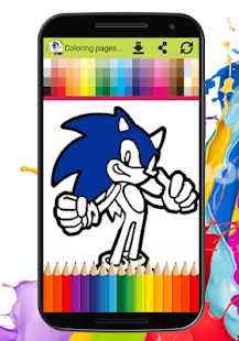 Coloring book for super sonic - náhled