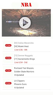 Watch NBA Basketball : Live Streaming for Free Screenshot