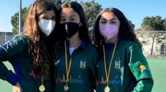 Tres jóvenes pechineras se proclaman campeonas de España sub-14 de hockey