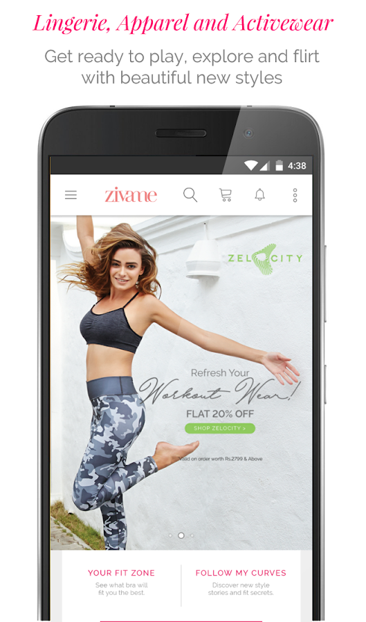 Zivame - Shop Lingerie, Activewear, Apparel Online- screenshot