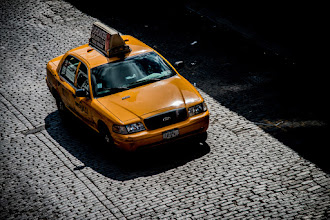 Photo: What could be more New York than a yellow taxi cab? I was walking the High Line on a recent visit to New York and the sunlight on the paving bricks caught my eye. About that time this cab came down the road and I thought it looked nice against the pavers so I took this shot.  #breakfastclub curated by +Stuart Williams