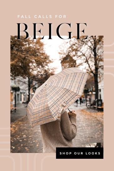 Beige Fall Looks - Pinterest Pin template