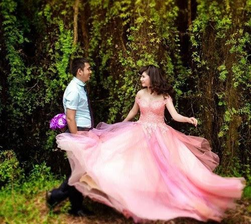 Làng nổi Tân Lập lung linh trong ảnh cưới