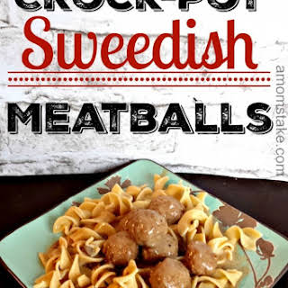Crock-Pot Swedish Meatballs.