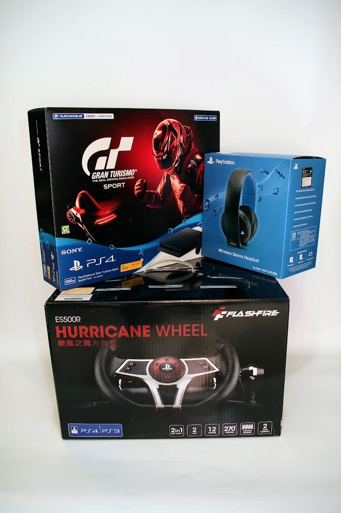 [心願成就] GT Sport PS4 Bundle Pack, Sony CECHYA-0083 Wireless Stereo Headset, 遊戲方向盤都一起回來了 - WN-Lin's Blog!